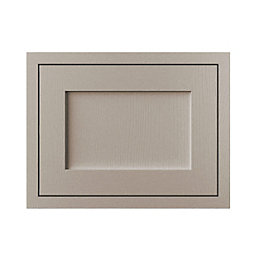 Cooke & Lewis Carisbrooke Taupe Framed Fixed Frame