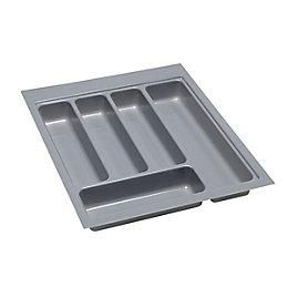 B&Q Grey Stainless Steel Effect Plastic Kitchen Utensil