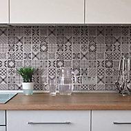 3D spiro Black & white Marble Mosaic tile, (L)300mm (W)300mm