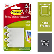 3M Command White Plastic Adhesive strip, Pack of 4