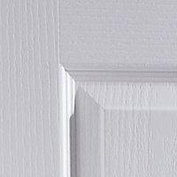 4 panel White Woodgrain effect LH & RH Internal Door, (H)1981mm (W)762mm (T)35mm