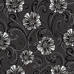 A.S. Creation Liberty Dark Grey & White Floral