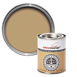 colourcourage Drift wood Matt Emulsion paint 0.13L Tester