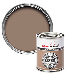 colourcourage Habana Smoke Matt Emulsion Paint 0.125L Tester