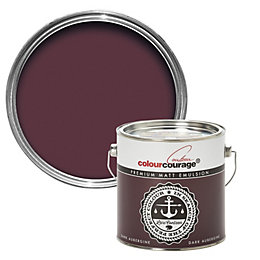 colourcourage Dark aubergine Matt Emulsion paint 2.5 L