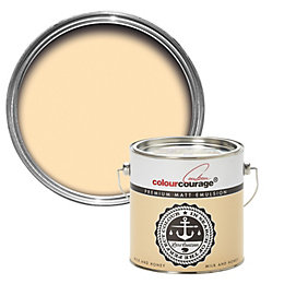 colourcourage Milk & honey Matt Emulsion paint 2.5