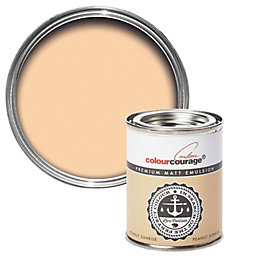 colourcourage Peanut Sunrise Matt Emulsion Paint 0.125L Tester