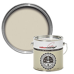 colourcourage Soft grey Matt Emulsion paint 2.5L