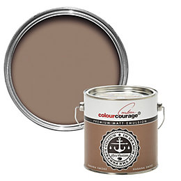 colourcourage Habana smoke Matt Emulsion paint 2.5L
