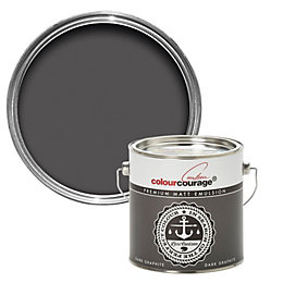 colourcourage Dark graphite Matt Emulsion paint 2.5 L