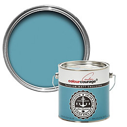 colourcourage Majolica Blue Matt Emulsion Paint 2.5L