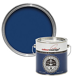 colourcourage Navy Blue Matt Emulsion Paint 2.5L