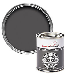 colourcourage Dark graphite Matt Emulsion paint 0.13L Tester