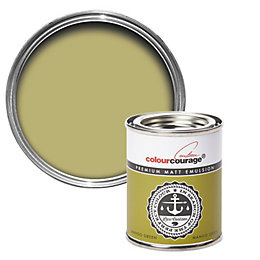 colourcourage Mango green Matt Emulsion paint 0.13L Tester