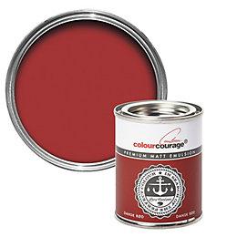 colourcourage Dansk rød Matt Emulsion paint 0.13L Tester