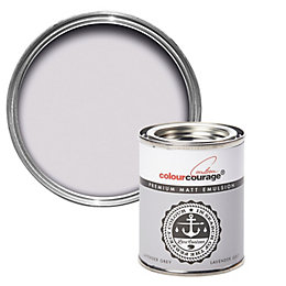 colourcourage Lavender grey Matt Emulsion paint 0.13L Tester