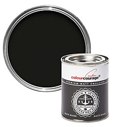 colourcourage Black Board Matt Emulsion Paint 0.125L Tester