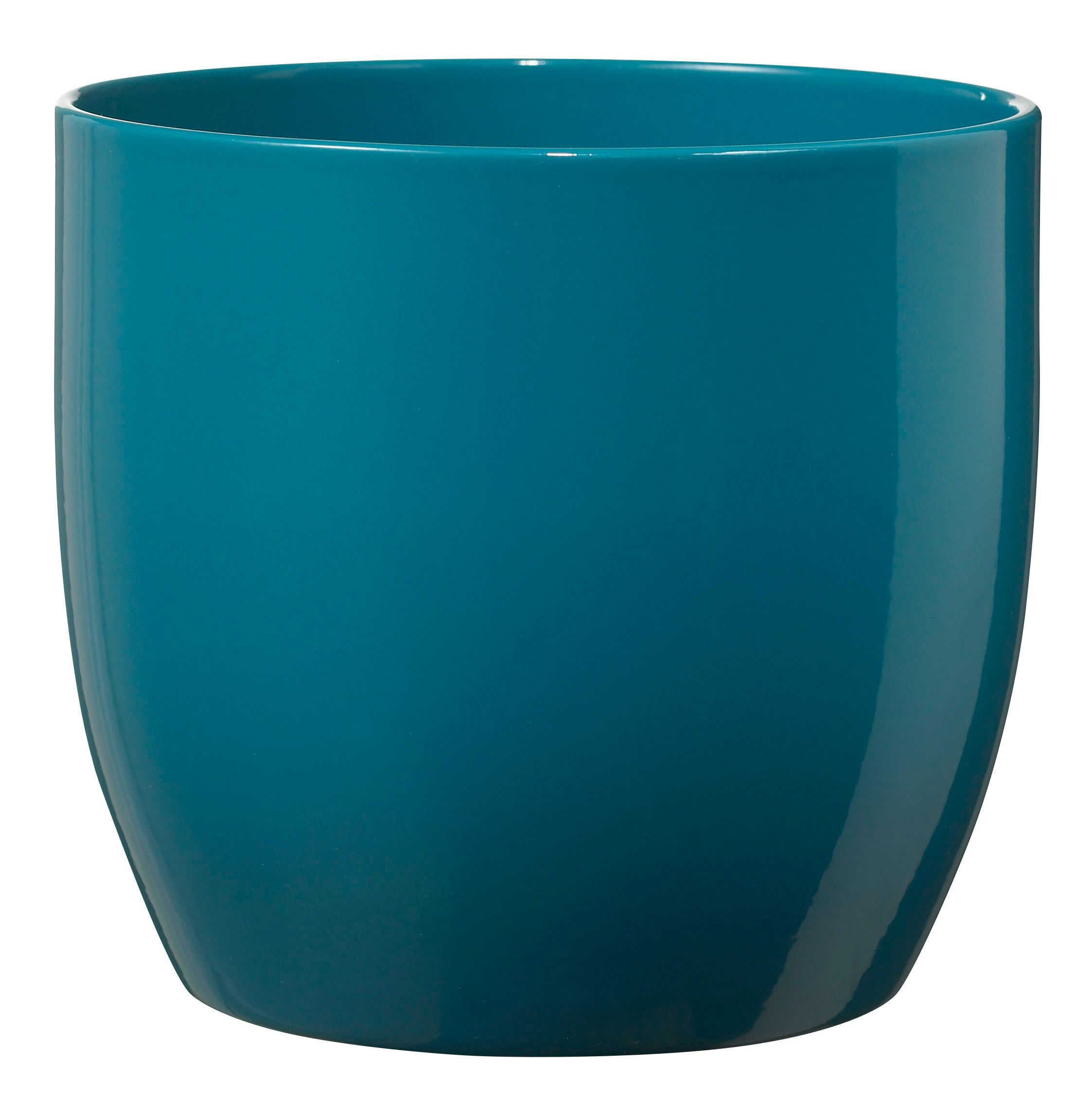 Basel Fashion Round Ceramic Blue Plant Pot H 260mm Dia