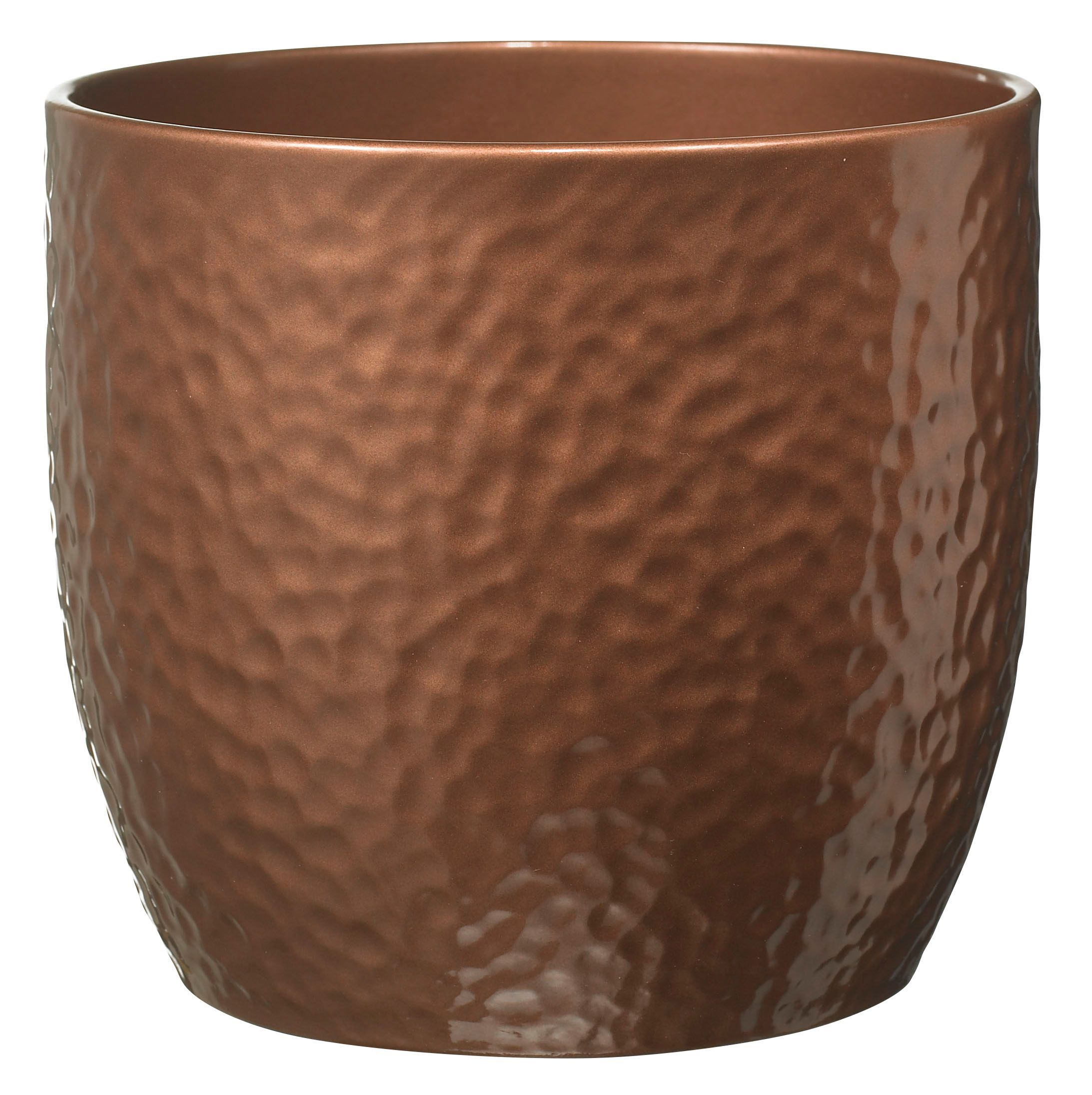 ceramic flower pots boston ceramic brown copper effect plant pot h 29963