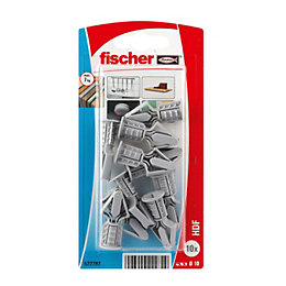 Fischer Nylon Cavity Plastic Plug, Pack of 10