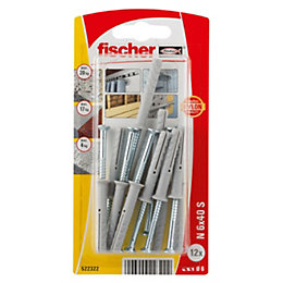 Fischer Nylon Hammer-In Plug, Pack of 12