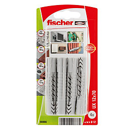 Fischer Nylon Multipurpose Plug, Pack of 4