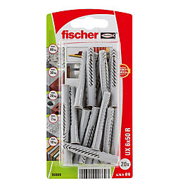 Fischer Nylon Multipurpose plug, Pack of 20