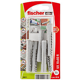 Fischer Nylon Multipurpose Plug, Pack of 6