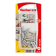 Fischer Nylon plug (Dia)4mm (L)20mm, Pack of 28
