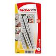 Fischer Nylon plug (Dia)10mm (L)50mm, Pack of 5