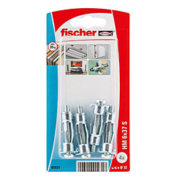 Fischer Steel Hollow Wall Anchor, Pack of 4