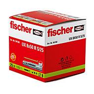 Fischer Nylon Multipurpose plug, Pack of 25