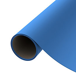 D-C-Fix Plain Blue Matt Self Adhesive Film (L)2M