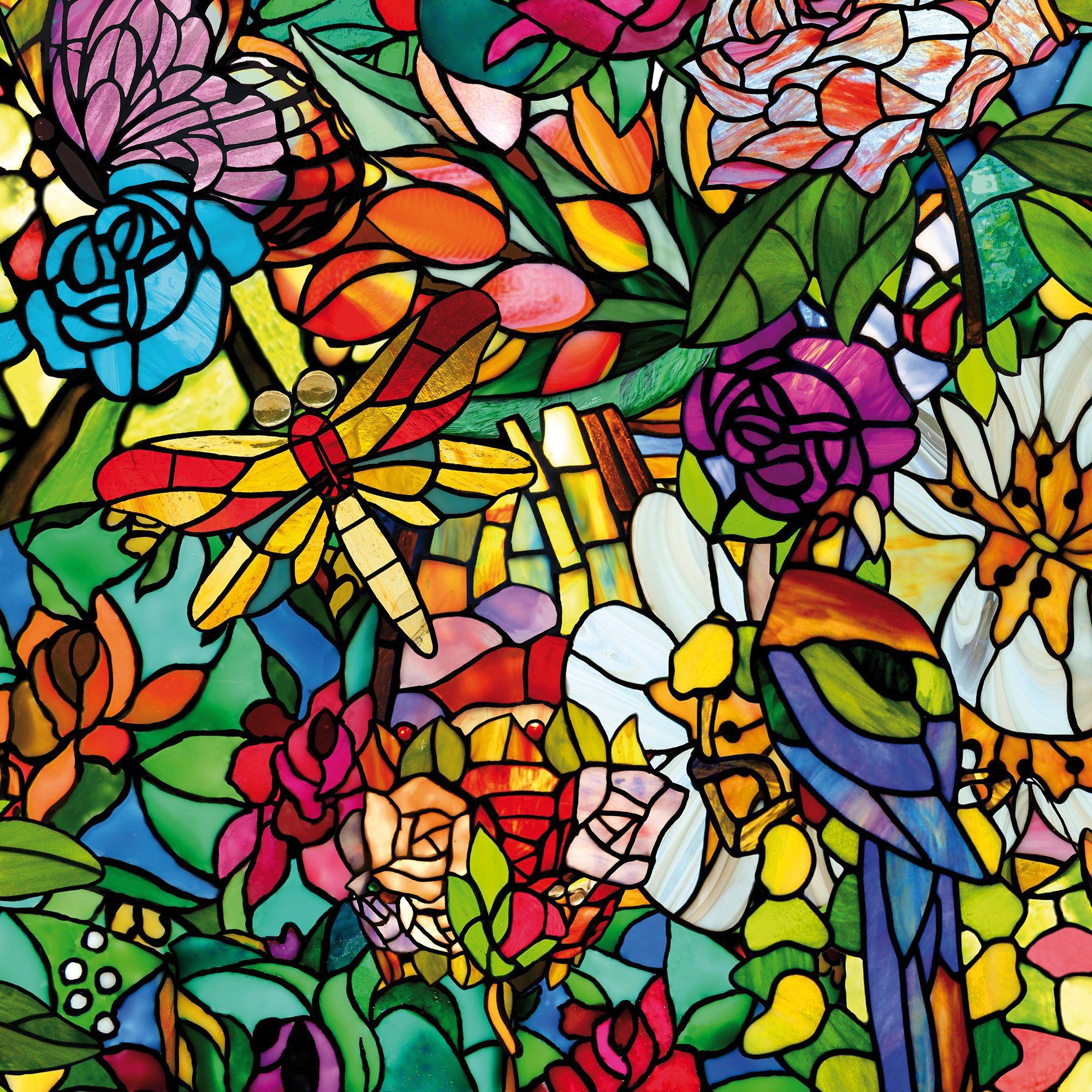 D C Fix Tulia Floral Multicolour Self Adhesive Film L 2m