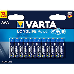 Varta High Energy AAA Battery, Pack of 12