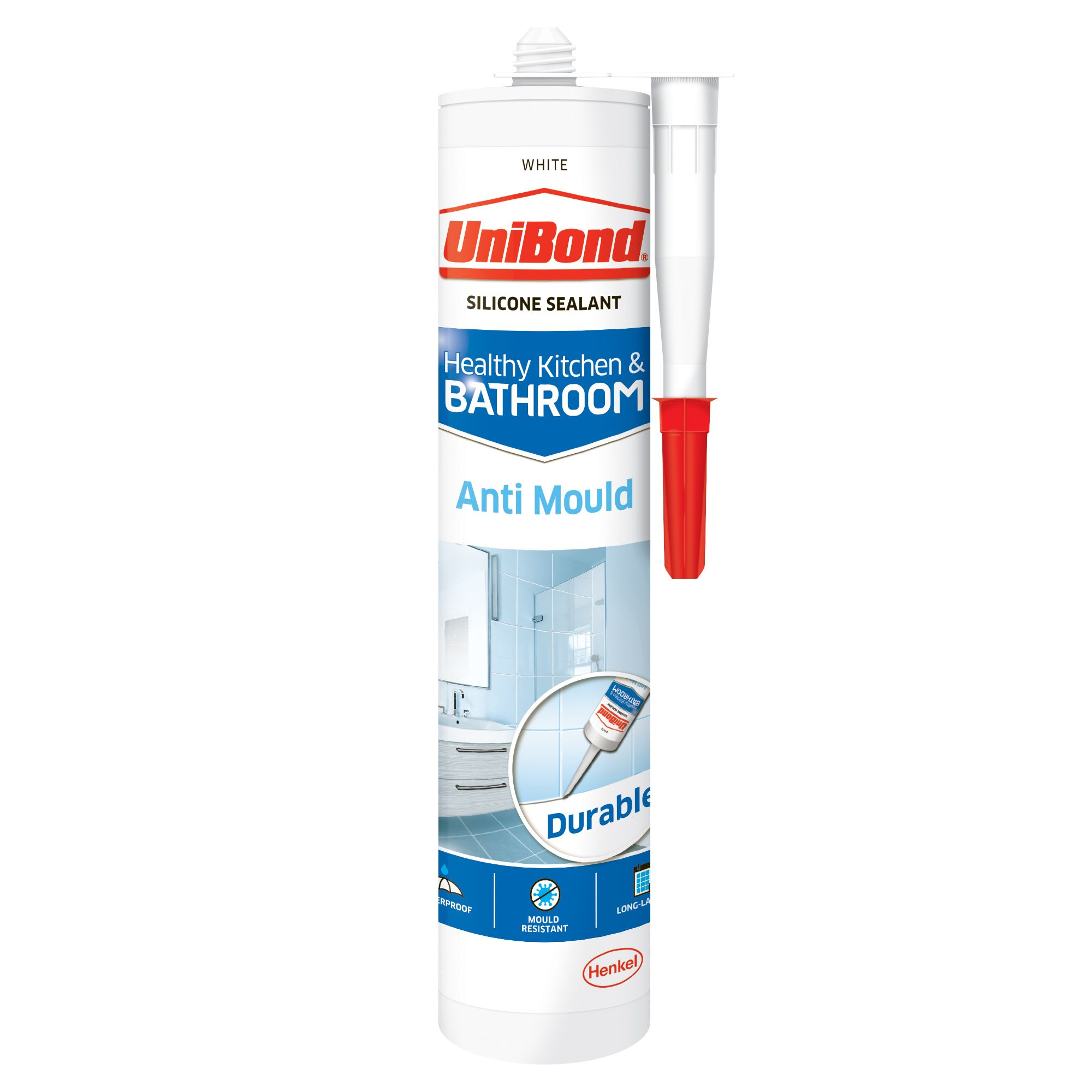 How Long Does Caulking Take To Dry In A Bathroom unibond anti mould white kitchen & bathroom sealant 300 ml | departments |  diy at b&q