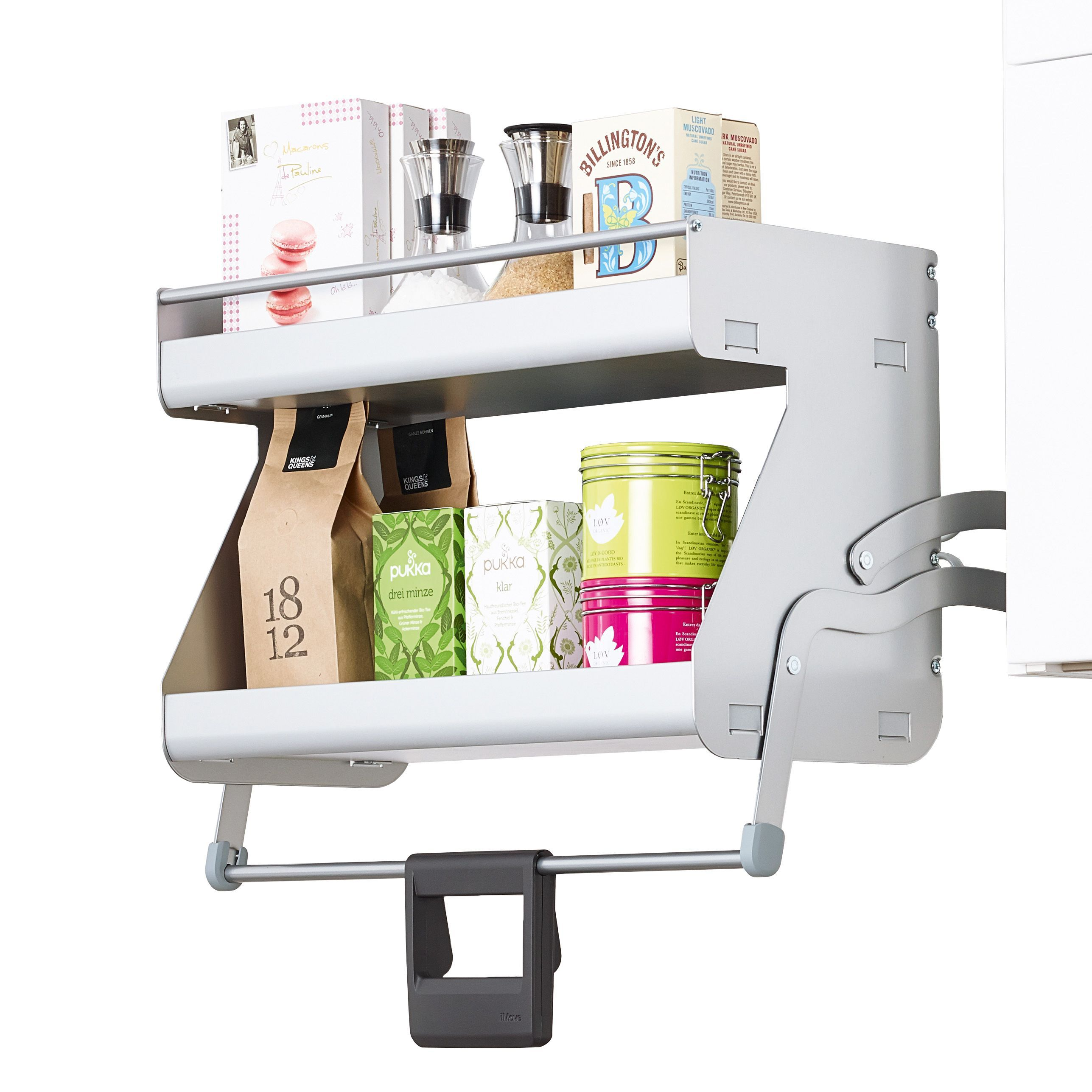 Kitchen Cabinet Pull Down Shelves: Kesseböhmer Imove Two Tier Internal Pull Down Shelf, 600mm
