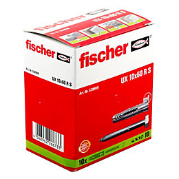 Fischer Nylon Multipurpose plug, Pack of 10