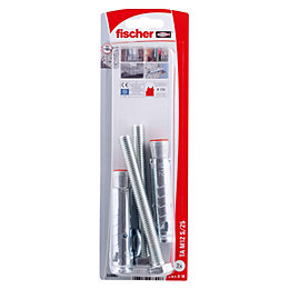 Fischer Electro Zinc Plated Steel Sleeve Anchor, Pack