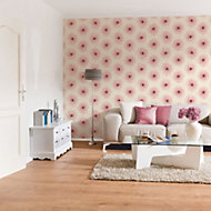 A.S. Creation Xray White & red Floral Pearl finish Wallpaper