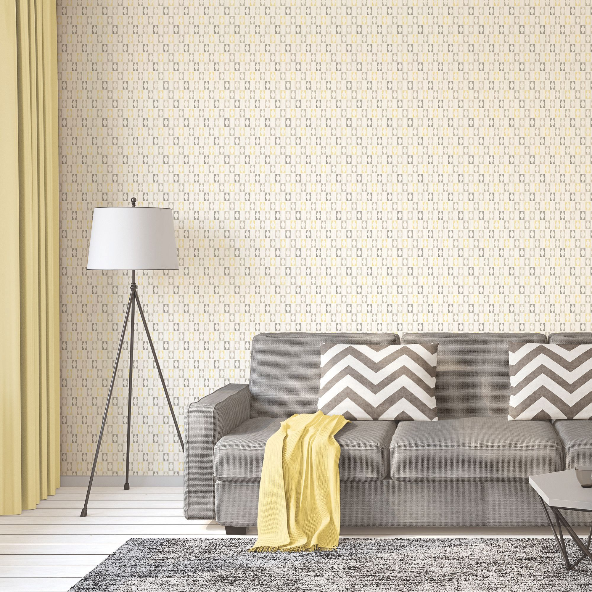 A.S. Creation Bjorn Yellow Geometric triangles Wallpaper