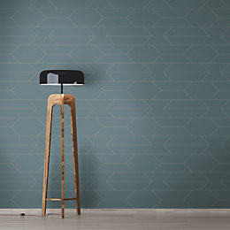 A.S. Creation Bjorn Grey Geometric Matt Finish Wallpaper