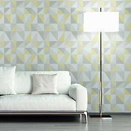 A.S. Creation Life 4 Grey & Yellow Geometric