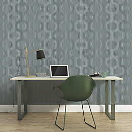 A.S. Creation Pop Colours Grey Metallic Finish Wallpaper