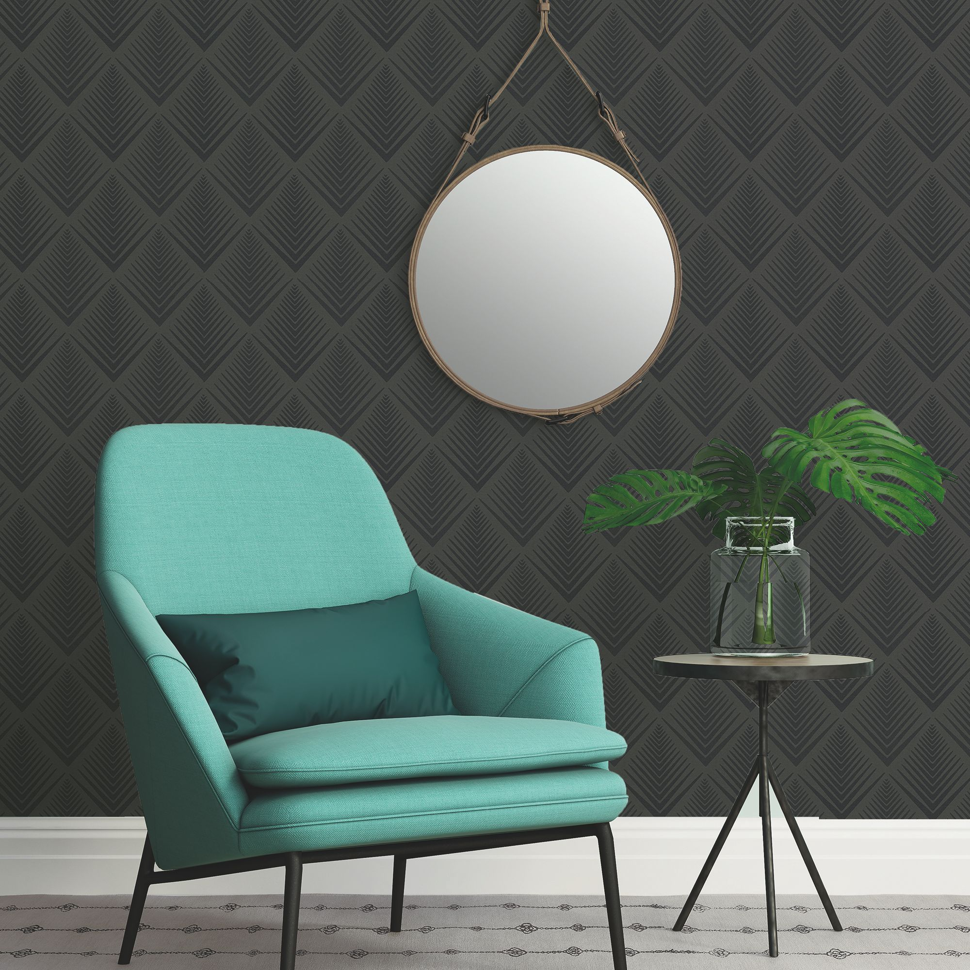A.S. Creation Life 4 Black Geometric Glitter Wallpaper
