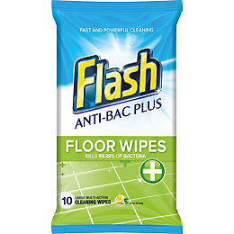 Flash Floor Wipes, pack of 10