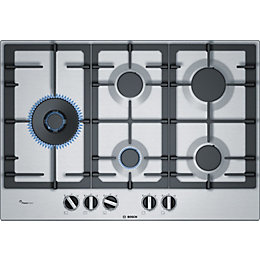 Bosch PCS7A5B90 5 Burner Black Stainless Steel Gas