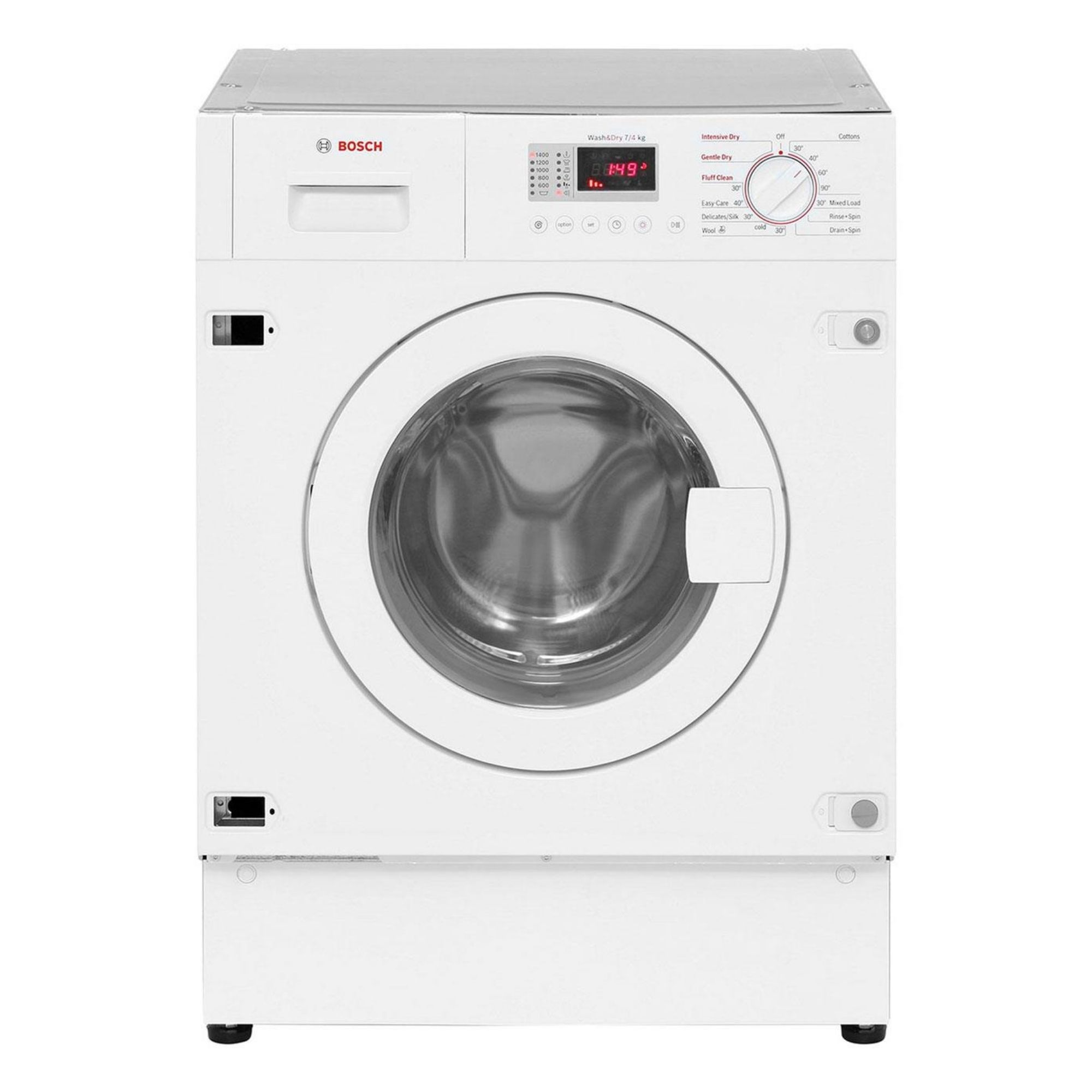 Bosch WKD GB White Built In Washer Dryer Departments