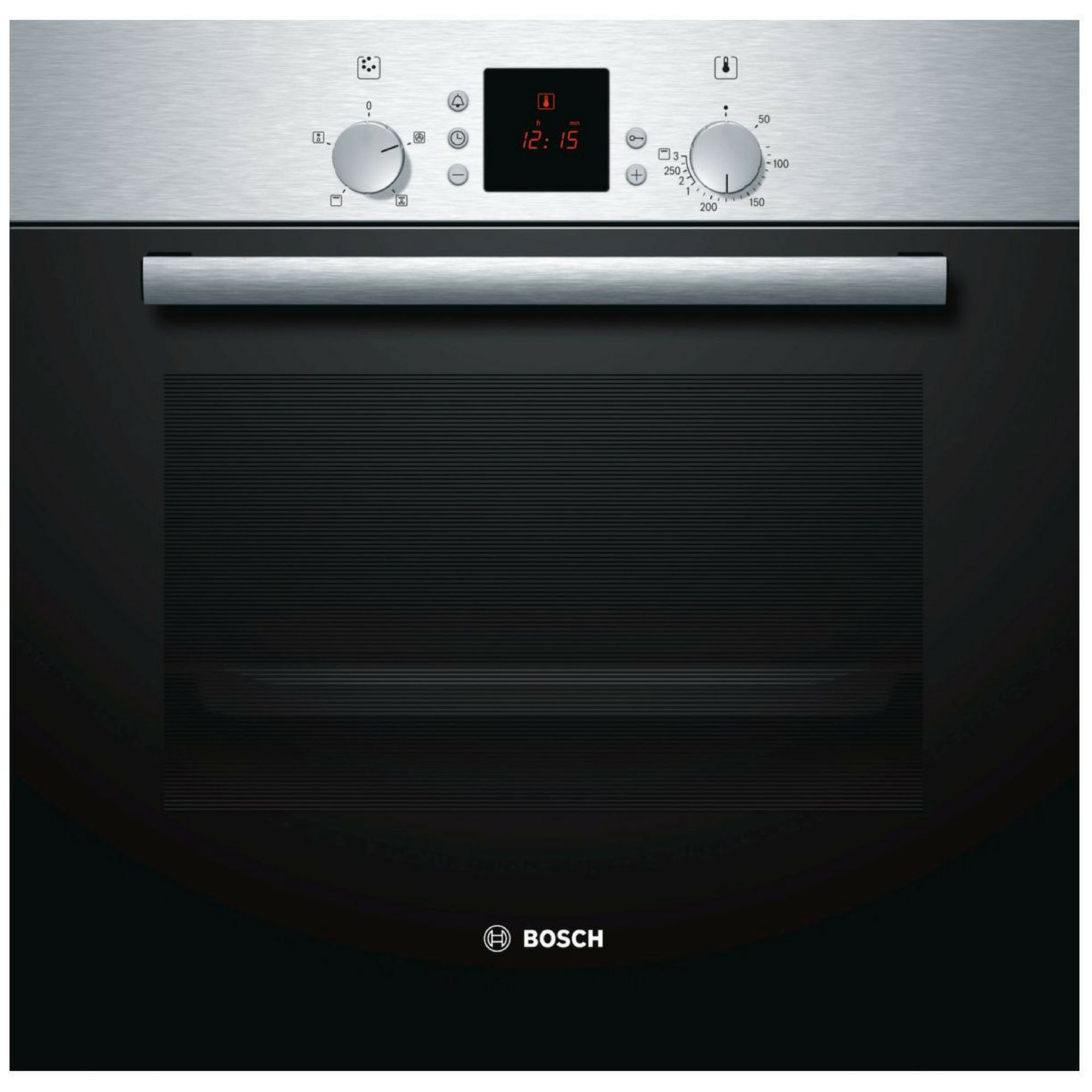 Bosch Hbn331e5b Brushed Steel Electric Single Fan Oven