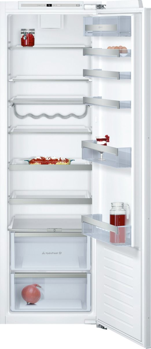 refrigerator kitchen cabinets neff ki1813f30g white integrated fridge departments 1813